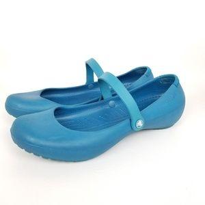 Crocs | mary jane | dark turquoise | flats
